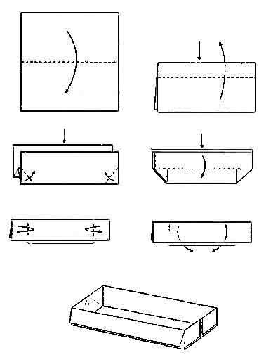 Оригами схема коробки Если вы