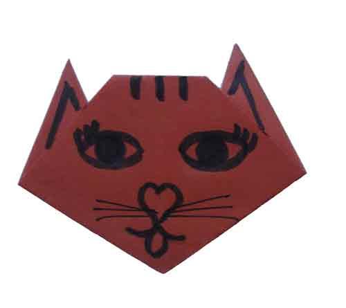 Поэтому такие оригами показаны для начинающих.  Эти плоскостные.